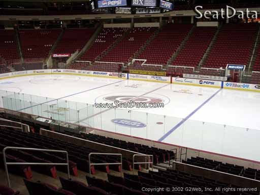 Seat view from section 117 at PNC Arena, home of the Carolina Hurricanes