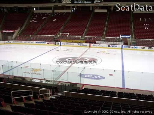Seat view from section 118 at PNC Arena, home of the Carolina Hurricanes