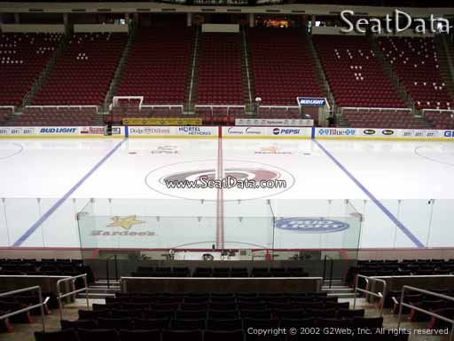 Seat view from section 119 at PNC Arena, home of the Carolina Hurricanes
