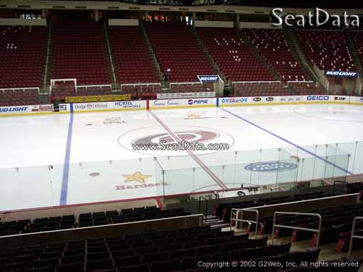 Seat view from section 120 at PNC Arena, home of the Carolina Hurricanes