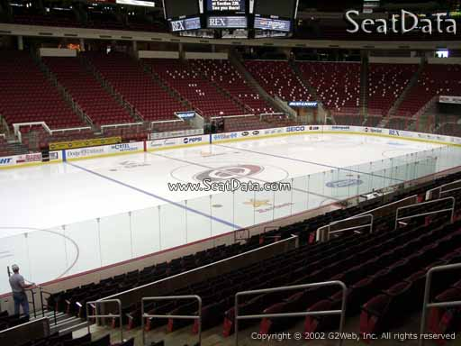 Seat view from section 122 at PNC Arena, home of the Carolina Hurricanes