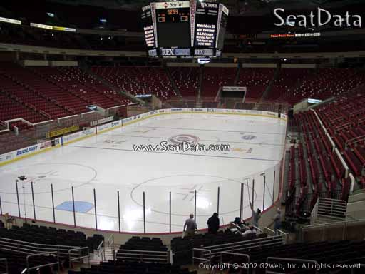 Seat view from section 125 at PNC Arena, home of the Carolina Hurricanes