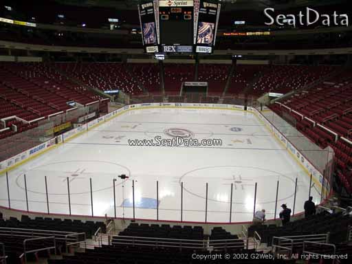 Seat view from section 126 at PNC Arena, home of the Carolina Hurricanes