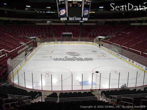 Seat view from section 127 at PNC Arena, home of the Carolina Hurricanes