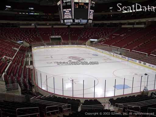 Seat view from section 128 at PNC Arena, home of the Carolina Hurricanes