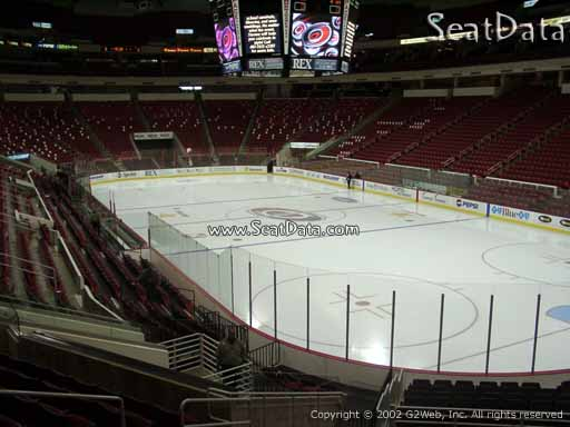 Seat view from section 129 at PNC Arena, home of the Carolina Hurricanes