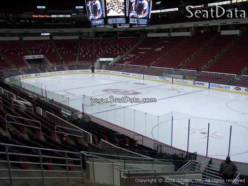Seat view from section 130 at PNC Arena, home of the Carolina Hurricanes