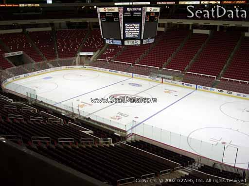 Seat view from section 201 at PNC Arena, home of the Carolina Hurricanes