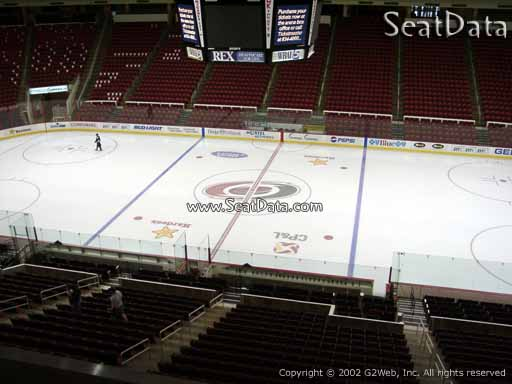 Seat view from section 203 at PNC Arena, home of the Carolina Hurricanes
