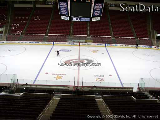 Seat view from section 204 at PNC Arena, home of the Carolina Hurricanes