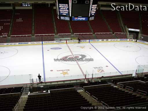 Seat view from section 205 at PNC Arena, home of the Carolina Hurricanes