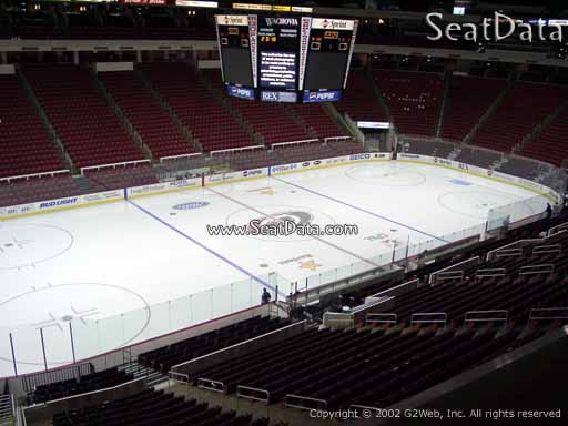 Seat view from section 207 at PNC Arena, home of the Carolina Hurricanes