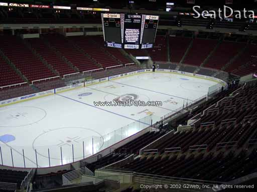 Seat view from section 208 at PNC Arena, home of the Carolina Hurricanes