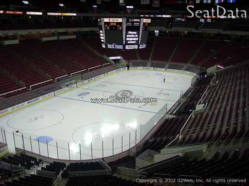 Seat view from section 209 at PNC Arena, home of the Carolina Hurricanes
