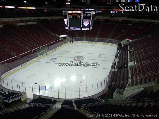 Seat view from section 210 at PNC Arena, home of the Carolina Hurricanes