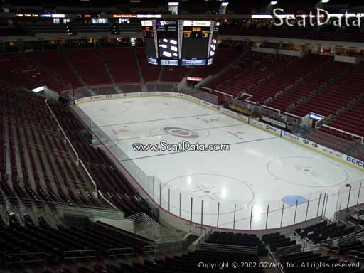 Seat view from section 215 at PNC Arena, home of the Carolina Hurricanes