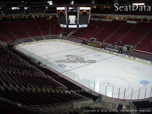 Seat view from section 216 at PNC Arena, home of the Carolina Hurricanes