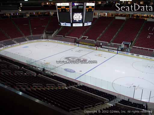Seat view from section 217 at PNC Arena, home of the Carolina Hurricanes