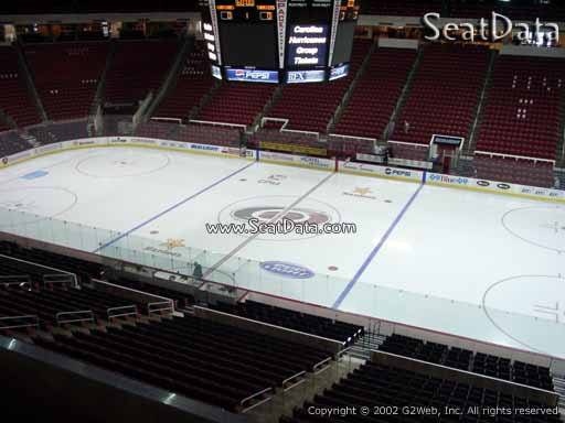 Seat view from section 218 at PNC Arena, home of the Carolina Hurricanes