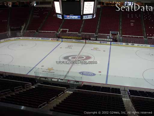 Seat view from section 219 at PNC Arena, home of the Carolina Hurricanes