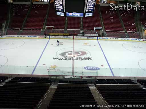 Seat view from section 220 at PNC Arena, home of the Carolina Hurricanes
