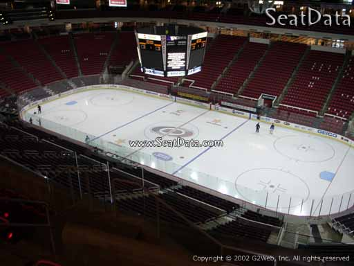 Seat view from section 321 at PNC Arena, home of the Carolina Hurricanes