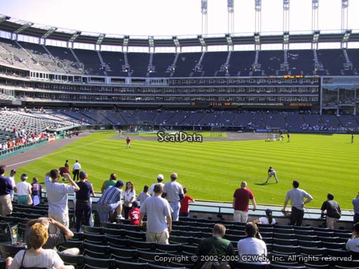 Seat view from section 111 at Progressive Field, home of the Cleveland Indians