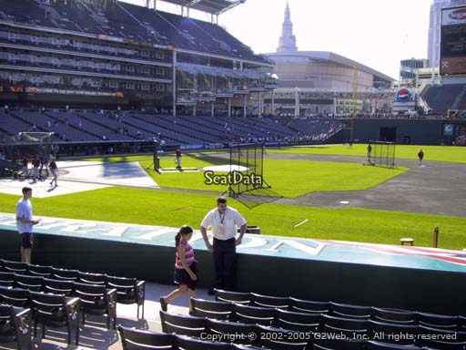 Seat view from section 140 at Progressive Field, home of the Cleveland Indians