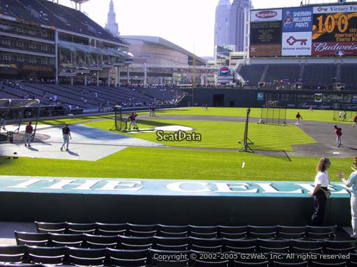 Seat view from section 144 at Progressive Field, home of the Cleveland Indians