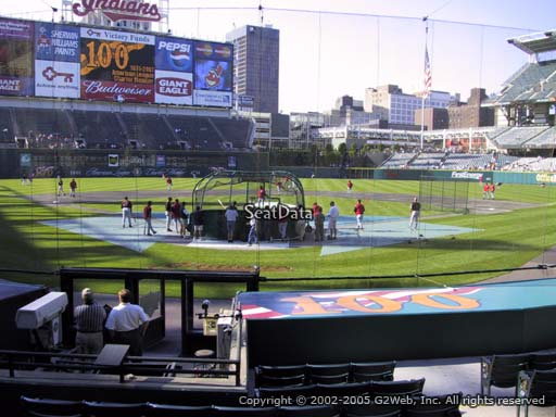 Seat view from section 153 at Progressive Field, home of the Cleveland Indians