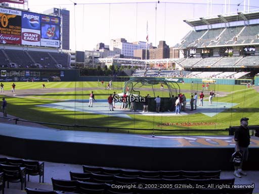 Seat view from section 155 at Progressive Field, home of the Cleveland Indians