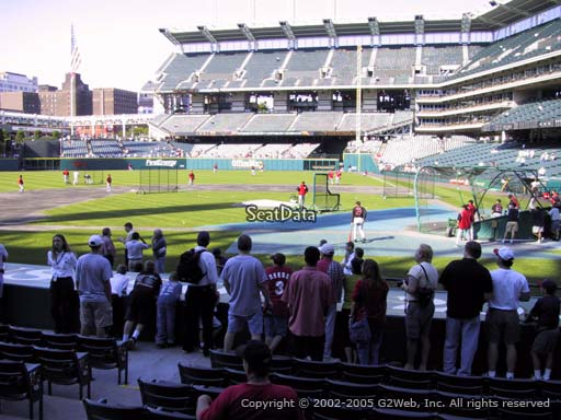 Seat view from section 159 at Progressive Field, home of the Cleveland Indians