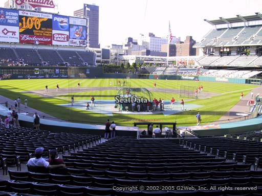 Seat view from section 254 at Progressive Field, home of the Cleveland Indians