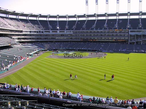 Seat view from section 307 at Progressive Field, home of the Cleveland Indians