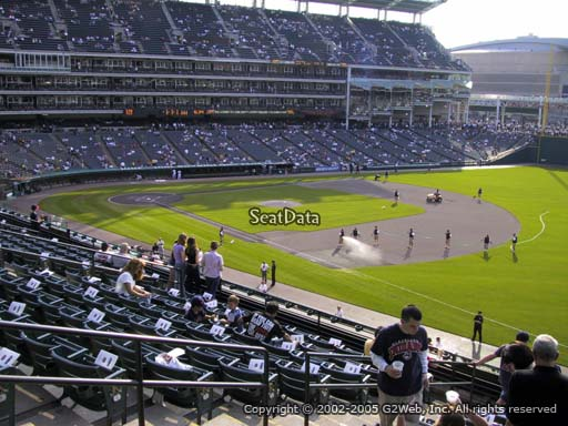 Seat view from section 330 at Progressive Field, home of the Cleveland Indians