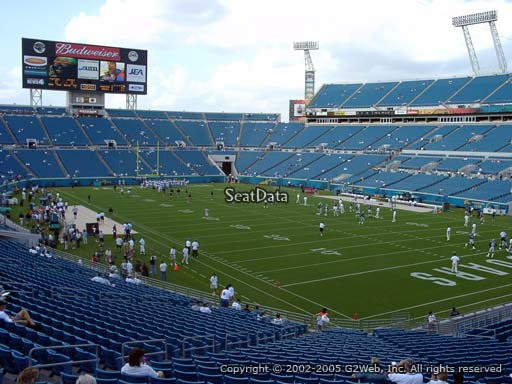Seat view from section 102 at Everbank Field, home of the Jacksonville Jaguars