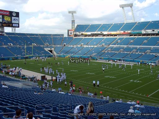 Seat view from section 104 at Everbank Field, home of the Jacksonville Jaguars