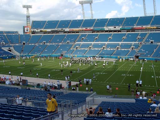 Seat view from section 107 at Everbank Field, home of the Jacksonville Jaguars