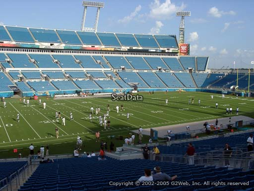 Seat view from section 113 at TIAA Bank Field, home of the Jacksonville Jaguars