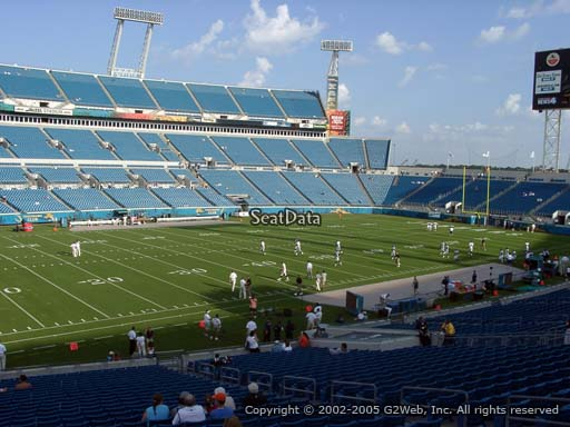 Seat view from section 114 at TIAA Bank Field, home of the Jacksonville Jaguars