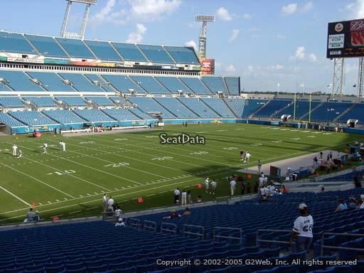 Seat view from section 115 at Everbank Field, home of the Jacksonville Jaguars