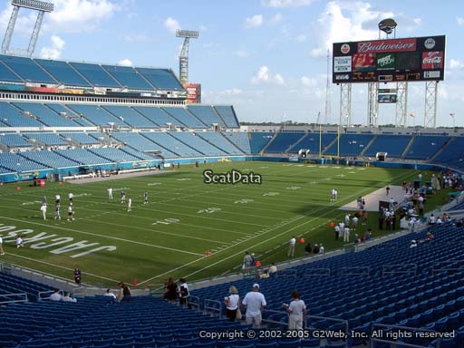 Seat view from section 118 at Everbank Field, home of the Jacksonville Jaguars