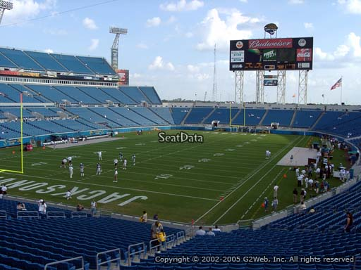 Seat view from section 119 at Everbank Field, home of the Jacksonville Jaguars