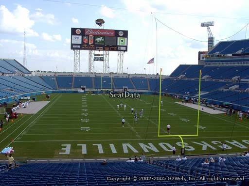Seat view from section 124 at Everbank Field, home of the Jacksonville Jaguars