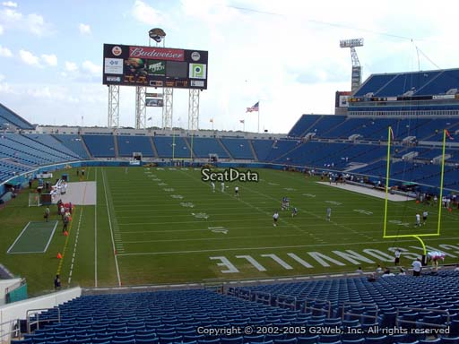 Seat view from section 125 at Everbank Field, home of the Jacksonville Jaguars
