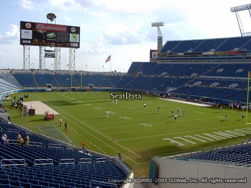 Seat view from section 127 at TIAA Bank Field, home of the Jacksonville Jaguars