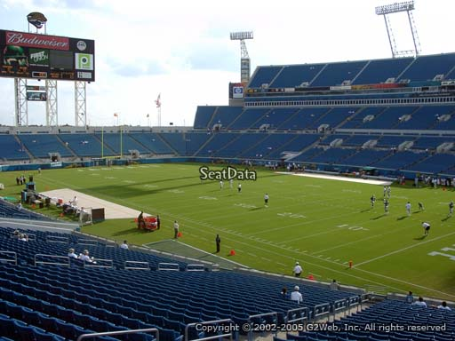 Seat view from section 130 at TIAA Bank Field, home of the Jacksonville Jaguars
