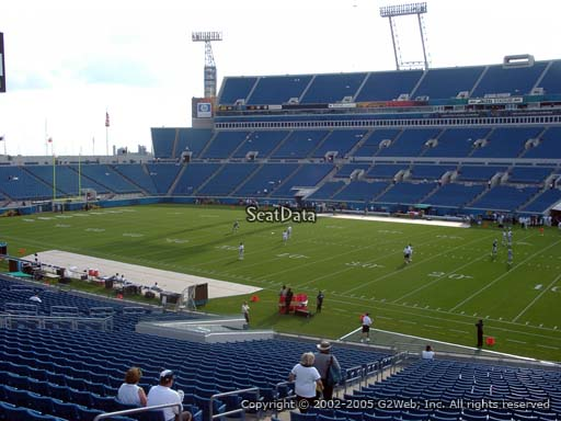 Seat view from section 132 at TIAA Bank Field, home of the Jacksonville Jaguars