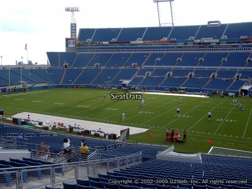 Seat view from section 134 at TIAA Bank Field, home of the Jacksonville Jaguars
