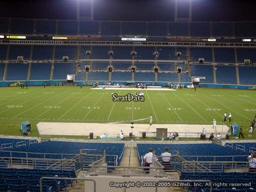 Seat view from section 137 at Everbank Field, home of the Jacksonville Jaguars